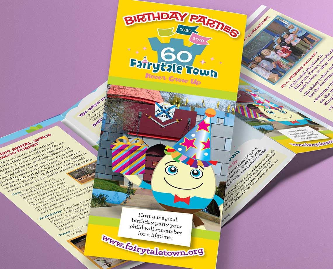 Fairytale Town Birthday Party Brochure