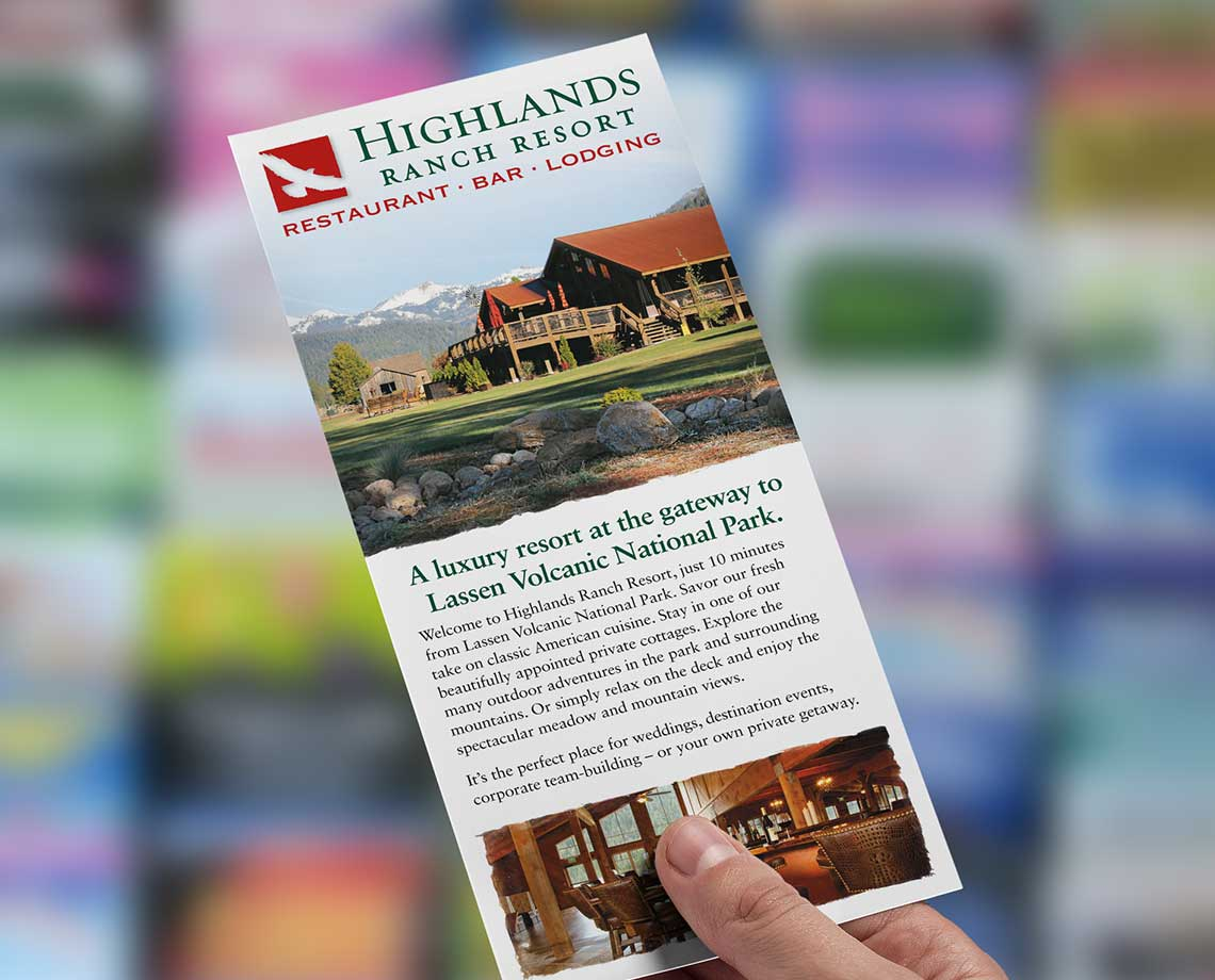 Highlands Ranch Resort Rack Card